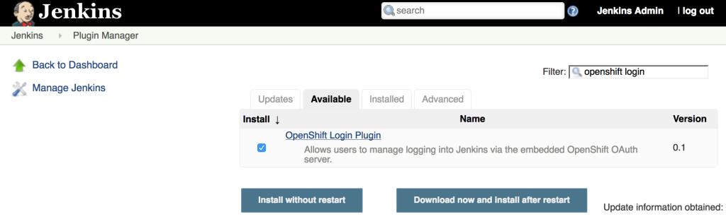 Jenkins Login Plugin Installation