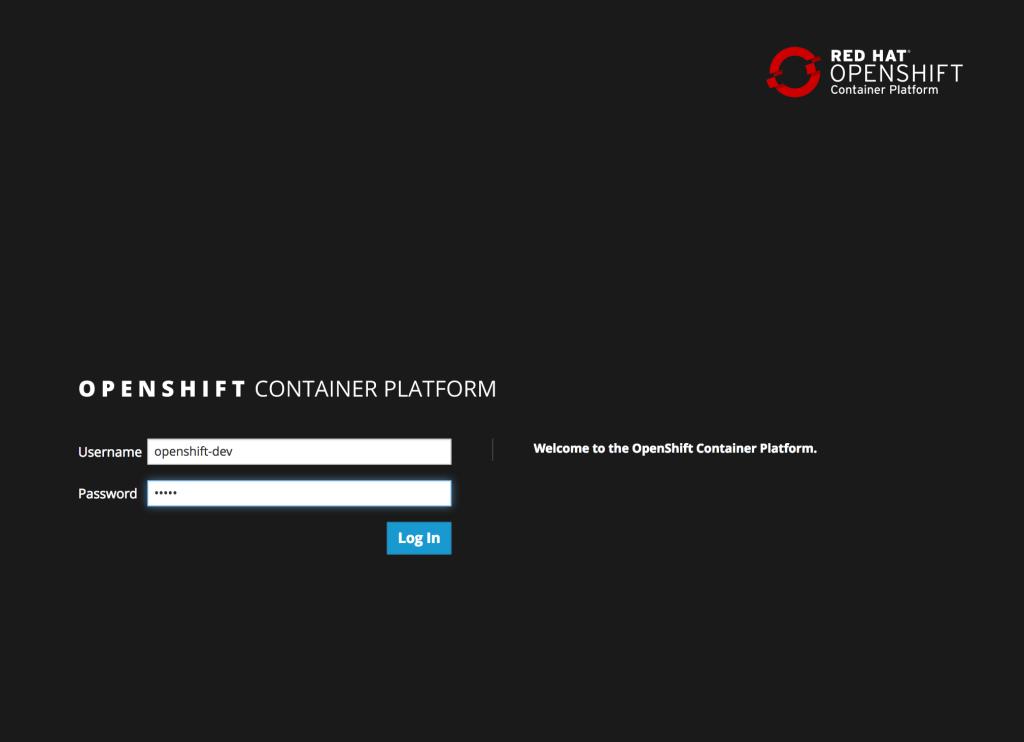 OpenShift Login Console